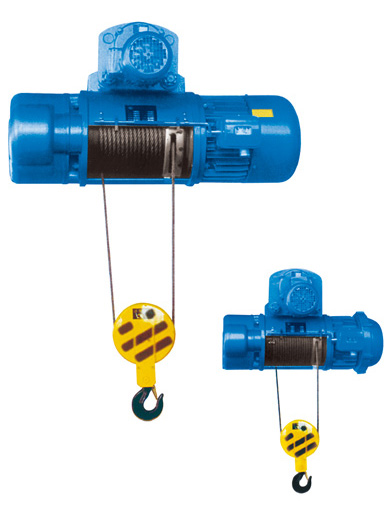 Cylindrical wire rope hoist