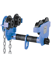 Geared trolley hoist